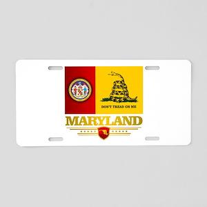 Maryland Gadsden Flag Aluminum License Plate
