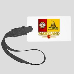 Maryland Gadsden Flag Luggage Tag