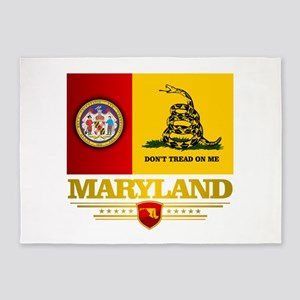 Maryland Gadsden Flag 5'x7'Area Rug