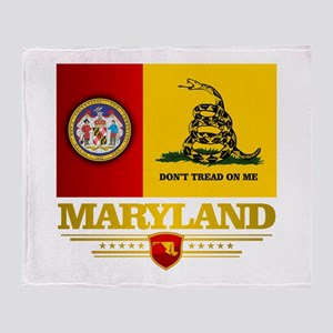Maryland Gadsden Flag Throw Blanket
