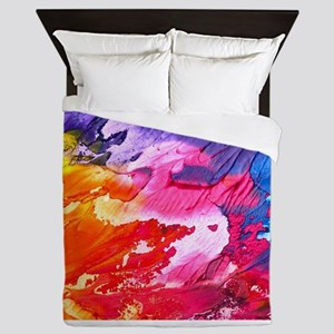 Bright Abstract Painting Queen Duvet