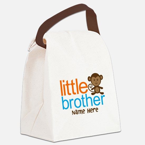 Personalized Monkey Little Brother Canvas Lunch Ba