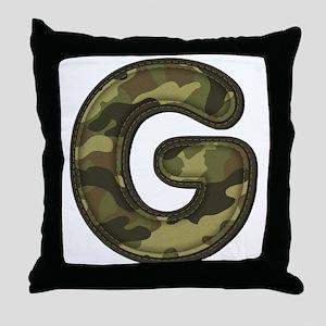 G Army Throw Pillow