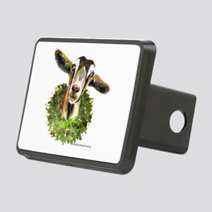 Christmas Goat Rectangular Hitch Cover