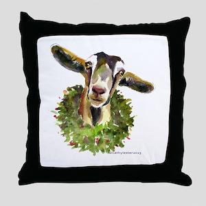 Christmas Goat Throw Pillow