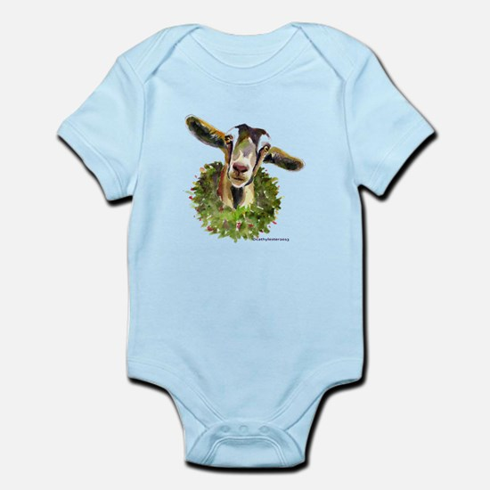 Christmas Goat Infant Bodysuit
