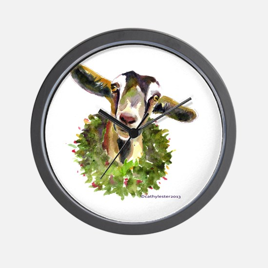 Christmas Goat Wall Clock