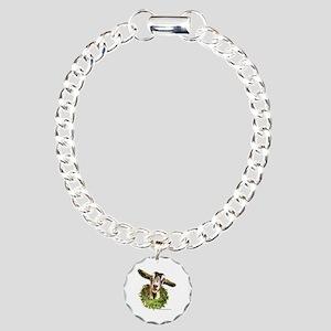 Christmas Goat Charm Bracelet, One Charm