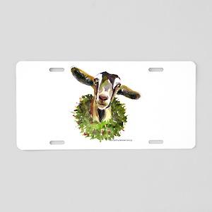 Christmas Goat Aluminum License Plate