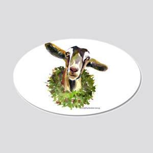 Christmas Goat 20x12 Oval Wall Decal