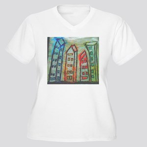 abstract city Plus Size T-Shirt