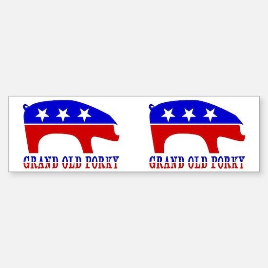 Grand Old Porky Bumper Bumper Bumper Sticker