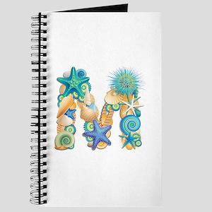 Beach Theme Initial M Journal