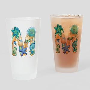 Beach Theme Initial M Drinking Glass