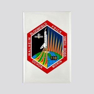 STS-110 Atlantis Rectangle Magnet