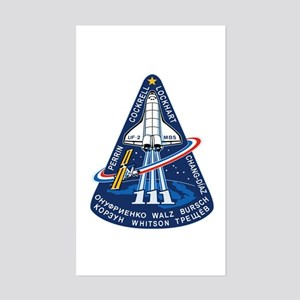 STS-111 Endeavour Sticker (Rectangle)