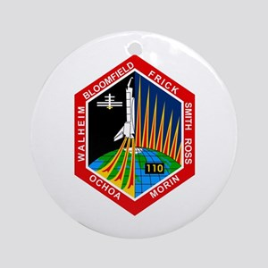 STS-110 Atlantis Ornament (Round)