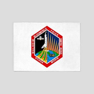 STS-110 Atlantis 5'x7'Area Rug