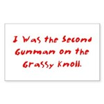 Grassy Knoll Rectangle Sticker