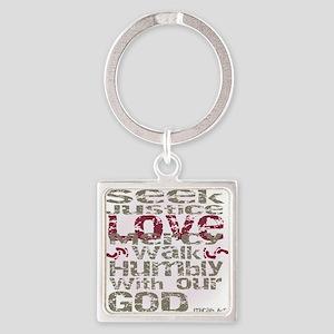 Micah 6:8 Keychains