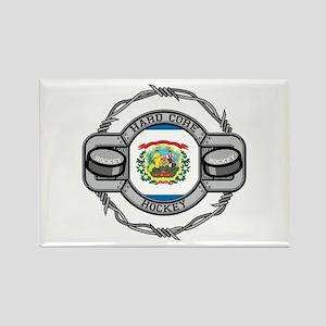 West Virginia Hockey Rectangle Magnet