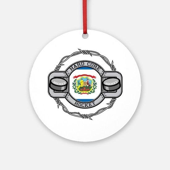 West Virginia Hockey Ornament (Round)