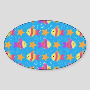 Cute Fish And Starfish Pattern Sticker
