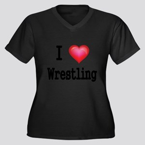 I LOVE WRESTLING Plus Size T-Shirt