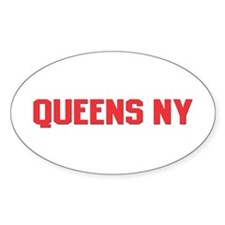 Queens NY Oval Sticker