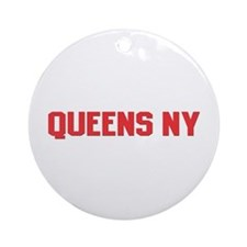 Queens NY Ornament (Round)