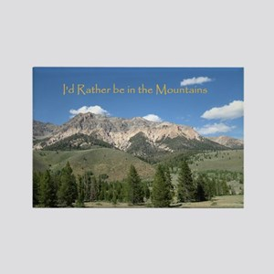 Rather be in the Mountains Rectangle Magnet