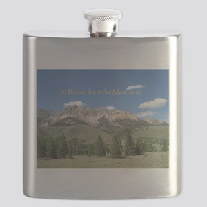 Rather be in the Mountains Flask