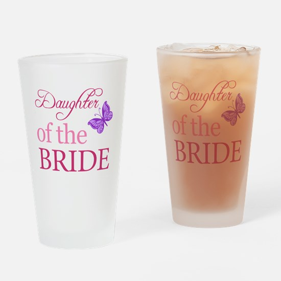 Daughter Of The Bride (Butterfly) Drinking Glass
