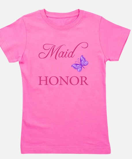Maid Of Honor (Butterfly) Girl's Tee