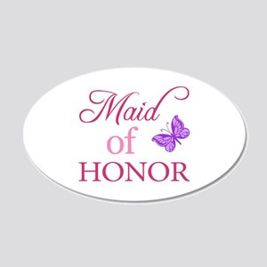 Maid Of Honor (Butterfly) 20x12 Oval Wall Decal