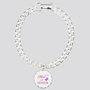 Maid Of Honor (Butterfly) Charm Bracelet, One Char
