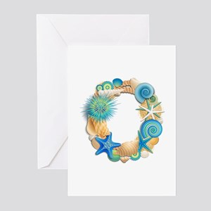 Beach Theme Initial O Greeting Cards (Pk of 10)