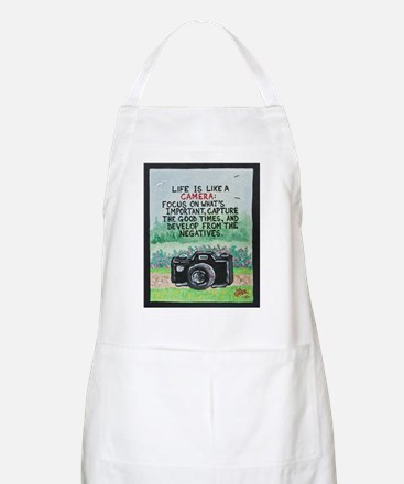 """ LIFE is like a Camera "" / Sculpted Art Apron"