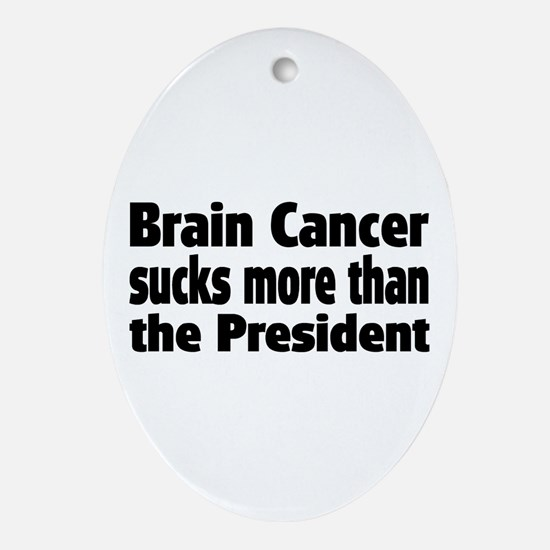 Brain Cancer Ornament (Oval)