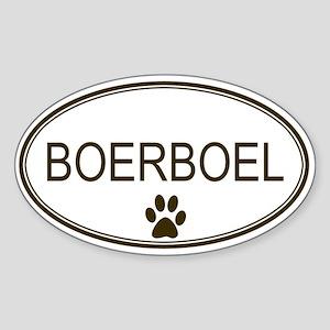 Oval Boerboel Oval Sticker