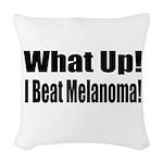 melanoma17.png Woven Throw Pillow