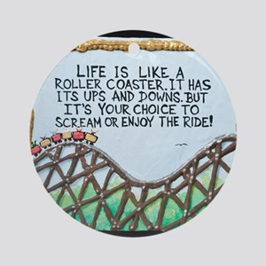 The Rollercoaster / Sculpted Art Ornament (Round)
