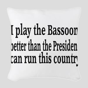 Bassoon Woven Throw Pillow