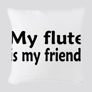 Flute is my Friend Woven Throw Pillow