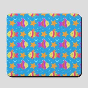 Cute Fish And Starfish Pattern Mousepad