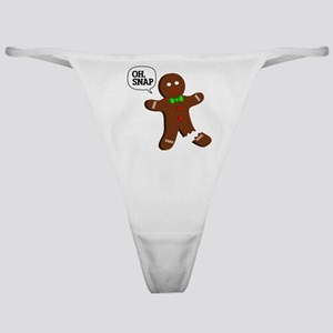 Oh Snap Gingerbread Man Classic Thong