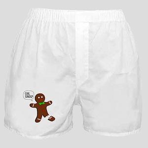 Oh Snap Gingerbread Man Boxer Shorts