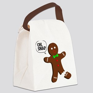Oh Snap Gingerbread Man Canvas Lunch Bag