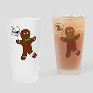 Oh Snap Gingerbread Man Drinking Glass