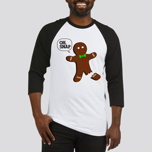 Oh Snap Gingerbread Man Baseball Jersey